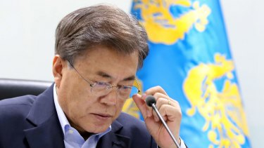 """South Korean President Moon Jae-in could support China's """"double suspension"""" proposal."""
