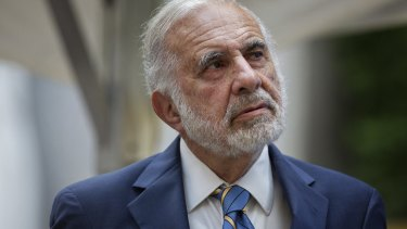 Trump supporter from the big end of town: Billionaire investor Carl Icahn saw Trump's victory as a trading opportunity.