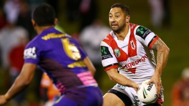Poor performance: Dragons playmaker Benji Marshall struggled big time against the Broncos at WIN Stadium last week.