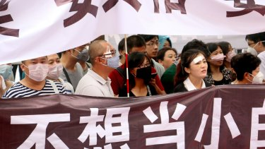Tianjin protesters demand answers from the Chinese the government.