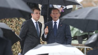 Former prime minister Tony Abbott also attended the ceremony.