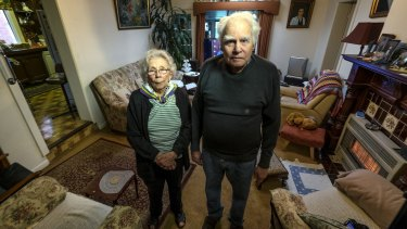 Nadege Morel and her husband Davis are preparing to move house after their home of more than half a century was acquired by the previous government for the East West Link.