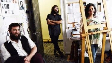 Liam Benson, Hossein Ghaemi and Linda Brescia are artists who use the Parramatta Artists Studio.