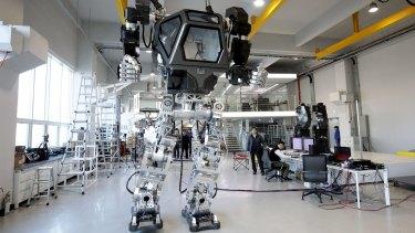 """Method-2"" takes a walk at Korea Future Technology in Gunpo, South Korea."