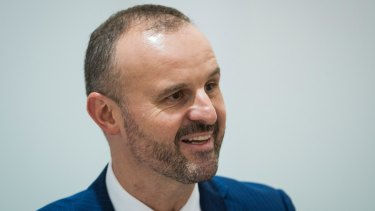 """Chief Minister Andrew Barr said he was """"over"""" the mainstream media and the """"filter"""" of journalists."""