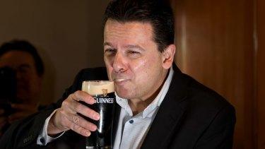 Senator Nick Xenophon after confirming his dual citizenship status.