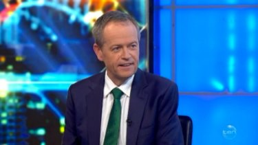 Bill Shorten appears on The Project on Monday night.