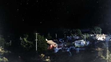 Starry skies are a motif of Sam Shmith's work, as in Untitled (Carlisle Drive East) 2015.
