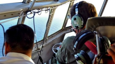 The Argentine Air Force search for the missing submarine.