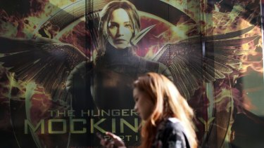 Cancelled: A billboard for the latest Hunger Games movie in Bangkok.