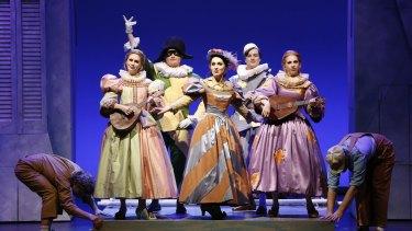 Michele McCarthy, Michael Petruccelli, Shakira Tsindos, Daniel Carison, Kate Amos in Victorian Opera's <i>Laughter and Tears</i>.