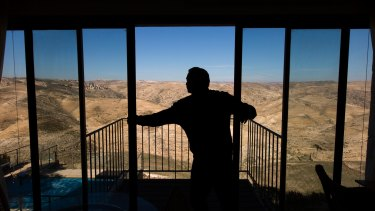 Airbnb has been  slammed for offering rooms with a view - such as this property, in Jewish settlements.