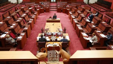 Senator Zed Seselja speaks in the Senate.