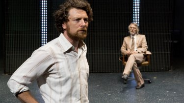Dan Spielman and Geoff Morrell in <i>The Blind Giant Is Dancing</i>.