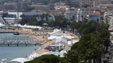 La Croisette and the Festival Palace at Cannes.