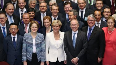 Late last month Foreign Affairs Minister Julie Bishop met with Australia's heads of mission to discuss foreign policy.