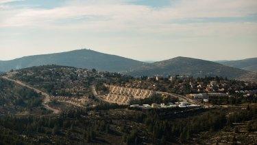 The West Bank Jewish settlement of Eli last week.