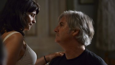 Kaarin Fairfax and John Jarratt in <i>StalkHer</i>, a two-handed sex-thriller-cum-comedy that they also co-directed.