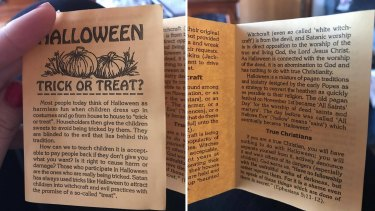 The anti-Halloween pamphlet.