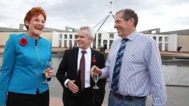 Pauline Hanson and her One Nation team celebrated and have been encouraged by Trump's victory.