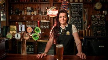 Backpacker Ciara McManamon, who works at an Irish bar in Flemington, is heading home to County Mayo next year.
