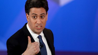UK Labour leader Ed Miliband takes part in the TV contest.