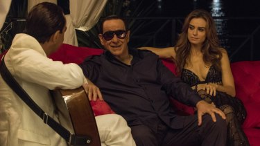 On the set of Loro by Paolo Sorrentino.