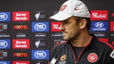 Digging his heels in: Western Sydney Wanderers coach Tony Popovic.