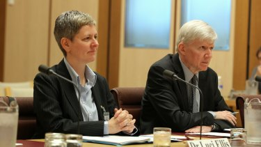 RBA head of financial stability Dr Luci Ellis and  assistant governor  Dr Malcolm Edey,  appear before the Economics References Committee on Thursday.