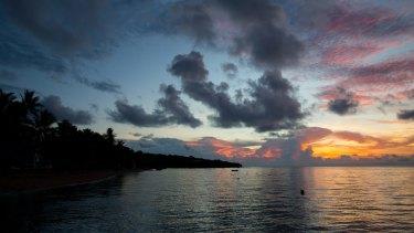 Sunrise on Erub Island in the Torres Strait.