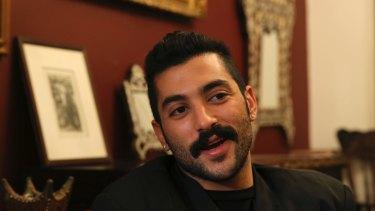 Hamed Sinno, lead singer and songwriter of the Lebanese group Mashrou' Leila.