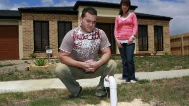 Andrew and Marina built their first home on the  Brooklands estate in Cranbourne shortly before it was recommended that  residents evacuate the area due to high levels of methane gas.