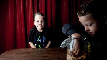 Ned, 7, is allergic to nuts but his parents have decided the house should not be nut-free.