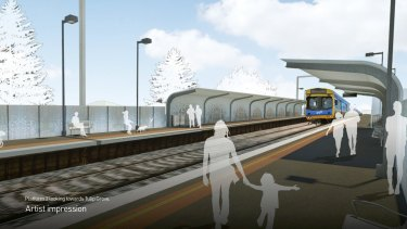 An artist's impression of Southland Station.
