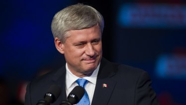 Stephen Harper, the defeated Canadian Conservative prime minister.