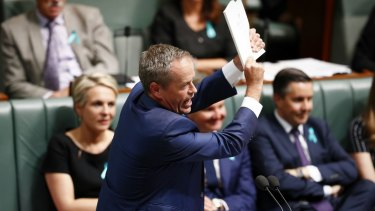 Bill Shorten during Question Time at Parliament House.