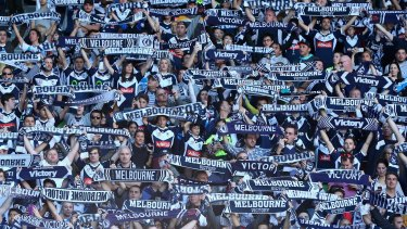 Unhappy: Melbourne Victory fans have been annoyed by the FFA's treatment of supporter groups.