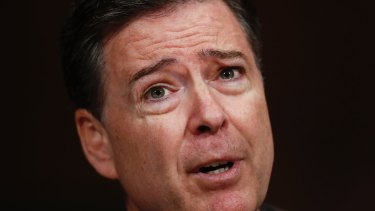 Then FBI director James Comey testifies on Capitol Hill earlier this month.