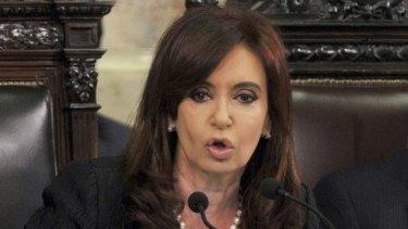 Cristina Fernandez de Kirchner, president of Argentina, in 2011.