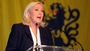 """""""Magnificent"""" result: National Front president Marine Le Pen."""