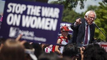 US Senator Bernie Sanders.