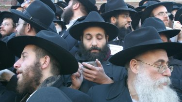More than 1,000 Chabad-Lubavitch rabbis meet in New York in 2004.