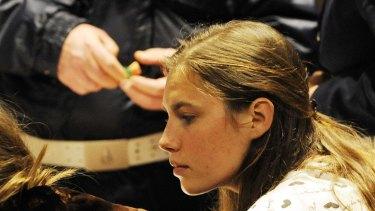 Amanda Knox in court in Perugia, Italy, in 2009.