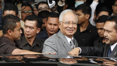 Malaysian Prime Minister Najib Razak leaving parliament in Kuala Lumpur last week.