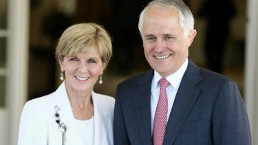 Foreign Affairs Minister Julie Bishop and Prime Minister Malcolm Turnbull.
