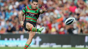 Sidelined: South Sydney halfback Adam Reynolds.