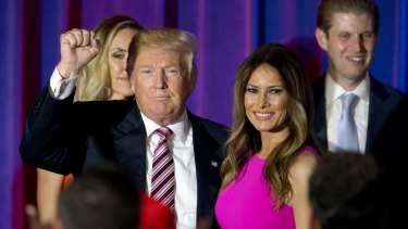 Donald Trump introduced his wife Melania on the first night of the RNC.
