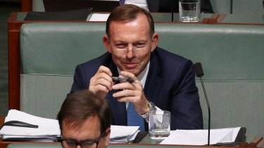"Tony Abbott says it would be ""unconscionable"" for the government to support a clean energy target."