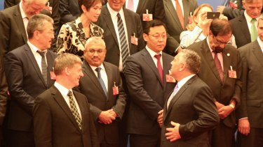 Treasurer Joe Hockey finalised the terms of the US$100 billion ($130 billion) Asian Infrastructure Investment Bank at a signing ceremony in Beijing on Monday.