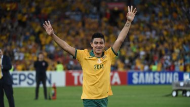 Massimo Luongo starred for the Socceroos in the Asian Cup.